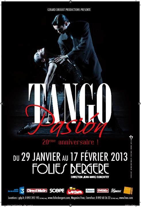 Tango Pasion aux Folies Bergères à partir du 29 janvier 2013