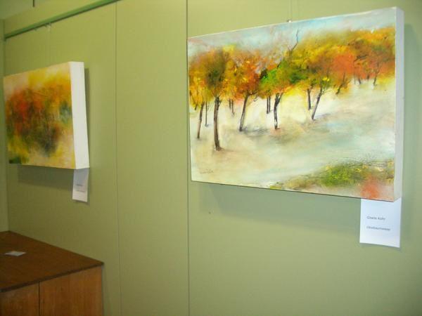 Kunstausstellung von Form & Farbe Crailsheim e.V. im Herbst 2008 im Rathaus von Fichtenau-Wildenstein
