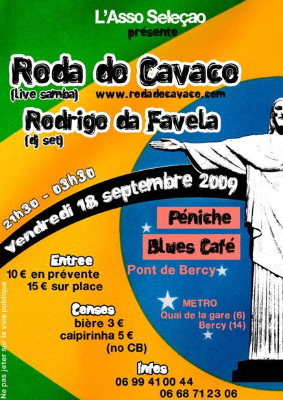 Roda do Cavaco a Paris le 18/09/09 a 21h30