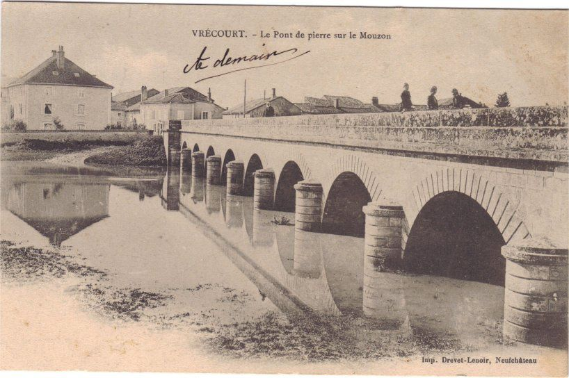Collection de cartes postales sur la commune de Vrécourt