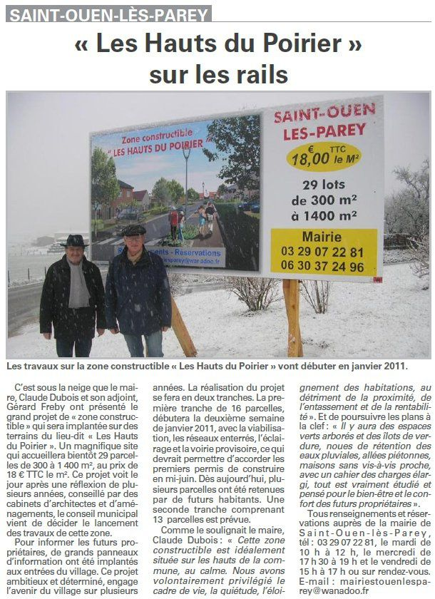 saint ouen zone constructible