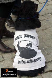 Presse indéPicarde Chien Police partout justice nulle part ! manifs étudiants Amiens