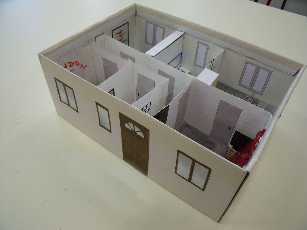 R alisation de la maquette d 39 une maison blog du coll ge - Maison en boite a chaussure ...