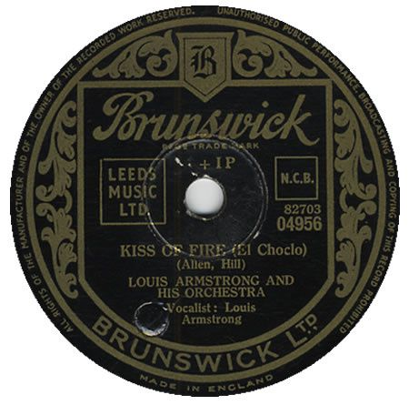 "Louis Armstrong - ""Kiss of fire"""