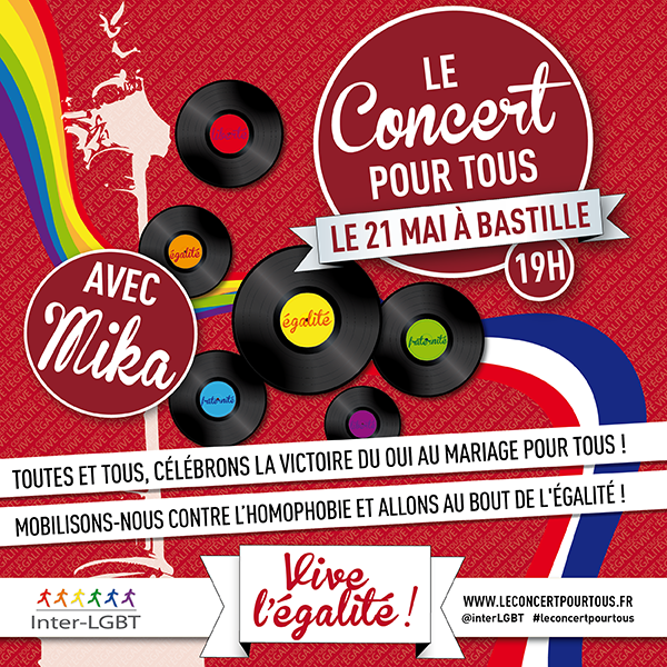 Le Concert pour tous se déroulera le 21 mai sur la Place de la Bastille