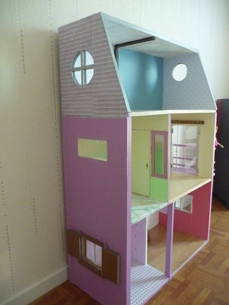 maison barbie carton. Black Bedroom Furniture Sets. Home Design Ideas
