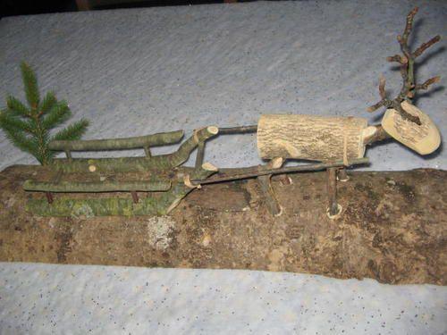 fabrication et decoration d'un renne en bois - bienvenue