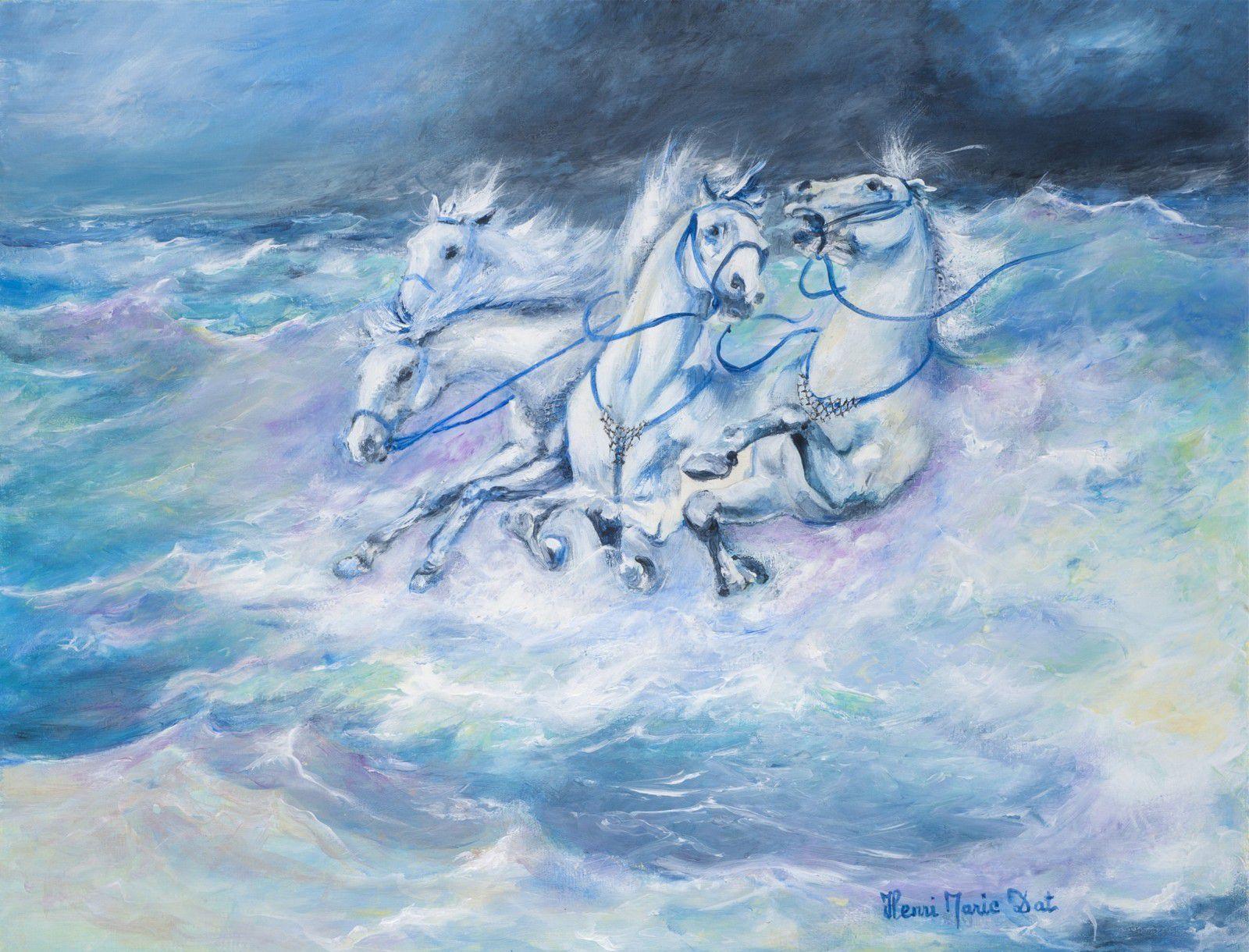 Henri Marie Dat est né en 1949 au bord de la Méditerranée. Marié à une allemande depuis 1970 et premier fervent de l'échange franco-allemand à travers l'art, il nous fait partager sa passion de la peinture.
