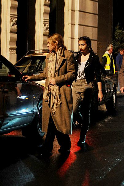 Madonna and Lourdes on the set of ''W.E.'' in London - August 31, 2010