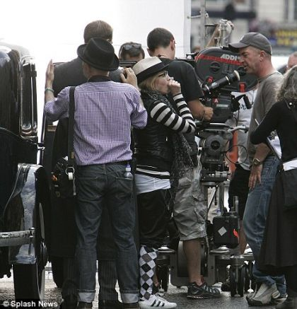 Madonna and Lourdes in special trouser leg look on set of ''W.E.''