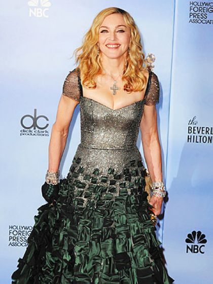 Golden Globes: Madonna in a dress ready to go to battle