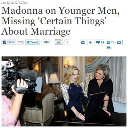 ABC interview: Madonna on younger men and about marriage