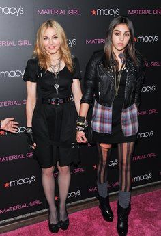 Madonna, Lourdes and Taylor Momsen at Material Girl launch at Macy's