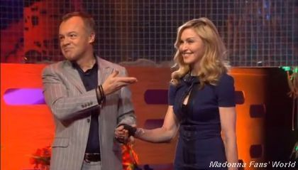 ''The Graham Norton show'' with Madonna on February 3, 2012 on 3 in New Zealand