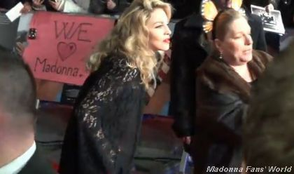 Madonna at UK premiere of ''W.E.'': Video + Photos - January 11, 2012