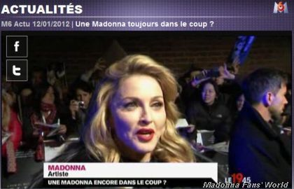 French TV channel M6 on Madonna at UK premiere of ''W.E.''