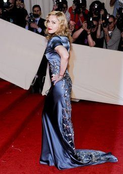 The Press on Madonna at Met Gala celebrating McQueen - May 2, 2011