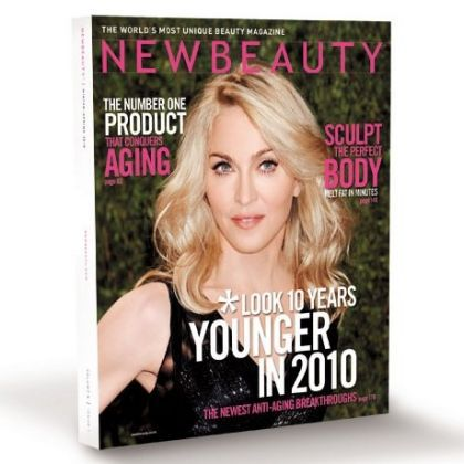Madonna on the cover of the magazine ''New Beauty''