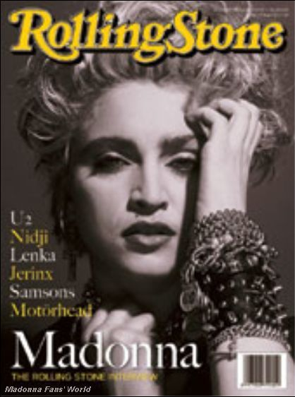 Madonna on the cover of the current issue of Rolling Stone Indonesia