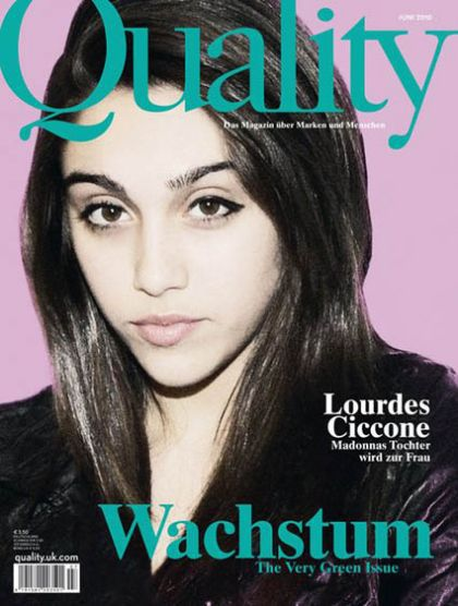 First magazine cover for Madonna's daughter Lourdes with ''Quality''