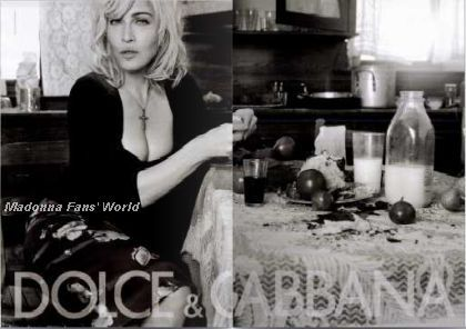 First ad of Madonna's D&G 2010 campaign in French mag ''Marie Claire''