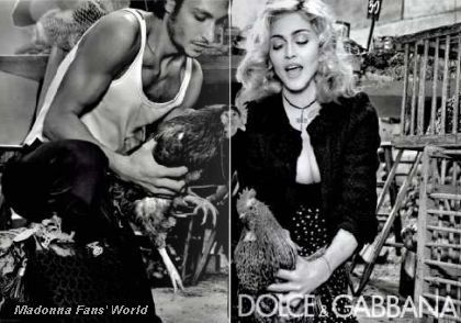 Fourth D&G Autumn-Winter 2010/11 ad with Madonna in French magazine