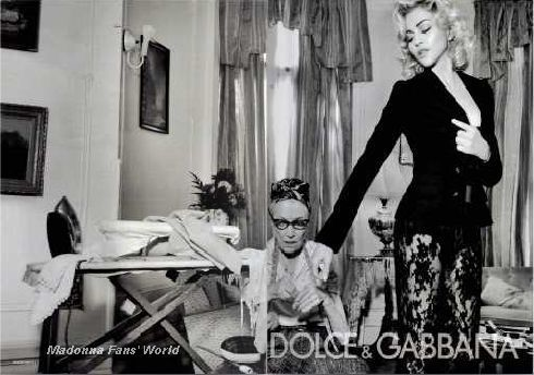 Fifth D&G Autumn-Winter 2010/11 ad with Madonna in French magazine