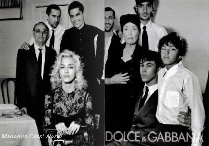 Second D&G Autumn-Winter 2010/11 ad with Madonna in French magazine