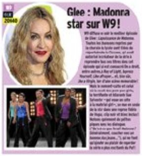 Glee Special Madonna on French TV channel W9 on April 20, 2011