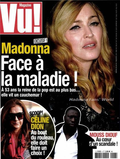 Madonna on the cover of French magazine ''Vu !'' - April-May 2012
