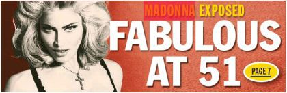 Madonna on the cover of Australian newspaper ''Herald Sun''