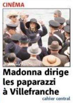 Madonna on the cover of French newspaper ''Nice-Matin'' for ''W.E.''