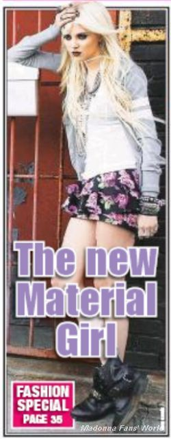 Madonna's Material Girl on the cover of U.S. newspaper ''New York Post''