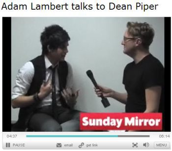 Video: Adam Lambert talks about Madonna, March 27, 2010