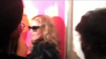 Madonna at Tom Munro's Exhibition of Celebrity Portraits on March 6