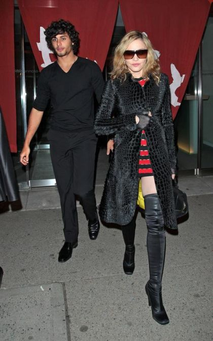 Madonna and Jesus Luz at Fela! and clubs in New York on March 18, 2010