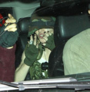 Madonna dressed as a soldier at 2010 Purim party in New York