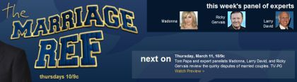 'The Marriage Ref' with Madonna on TV on March 11, 2010