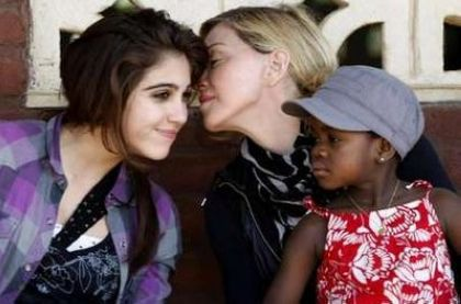 Photos: Madonna visits Gumulira village in Malawi on April 5, 2010