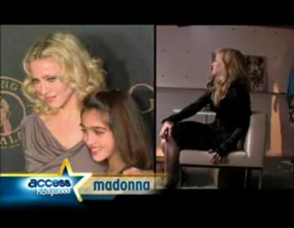 'Material Girl' line: interview with Madonna by ''Access Hollywood''