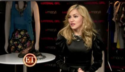 'Material Girl' line: interview with Madonna by ''ET''