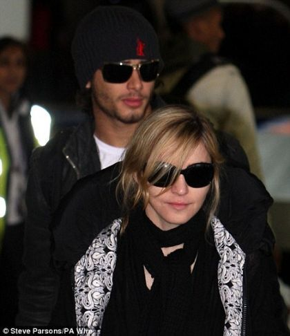 Madonna and family arrive in London on March 29, 2010