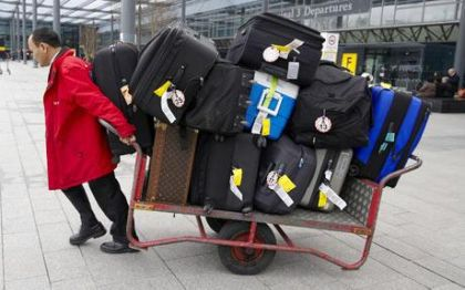 Material Girl Madonna and her 25 pieces of luggage