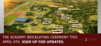 The Academy Bricklaying Ceremony this April 6th 2010