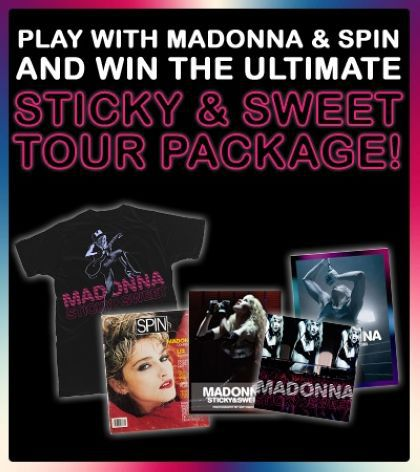Play with Madonna and Win The Ultimate Sticky & Sweet Tour Package