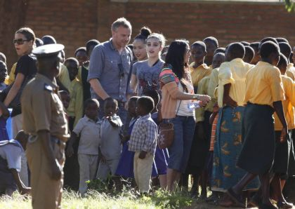 Photos: Madonna and David at 'Home of Hope' orphanage in Malawi on April 7, 2010