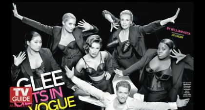 More pictures from TV Guide photo shoot cover for Glee Madonna episode
