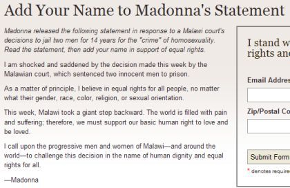 Stand for equal rights: Add Your Name to Madonna's Statement