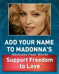 Madonna's letter to her Fans: Freedom To Love