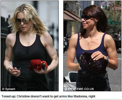Christine Bleakley: ''I don't want Madonna arms''